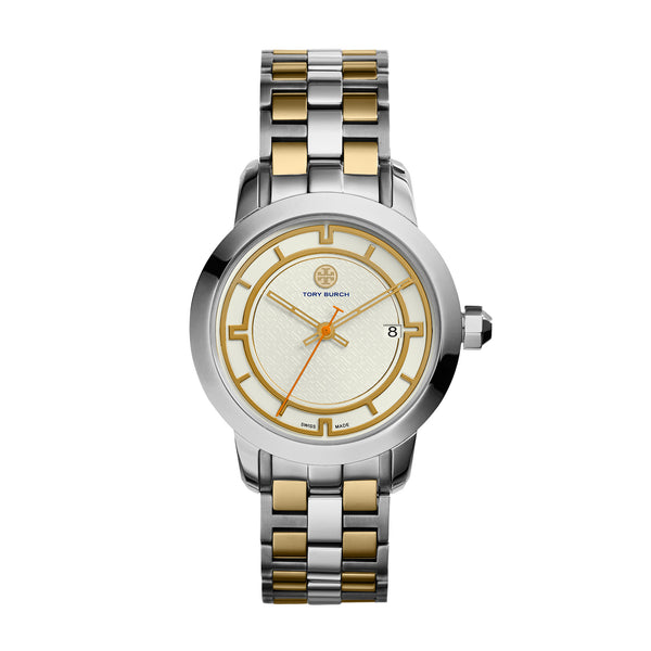 TORY WATCH, TWO-TONE STAINLESS STEEL/IVORY, 37 MM