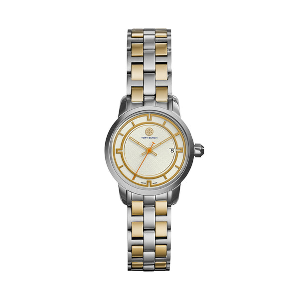 TORY WATCH, TWO-TONE STAINLESS STEEL/IVORY, 28 MM