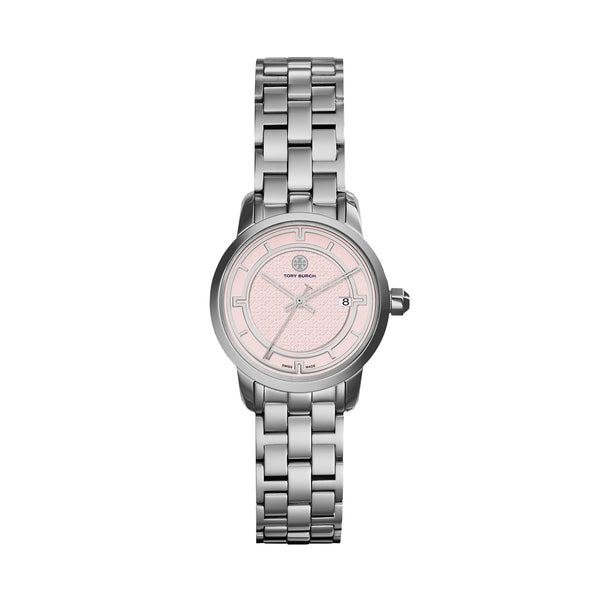 TORY WATCH, STAINLESS STEEL/PINK, 28 MM