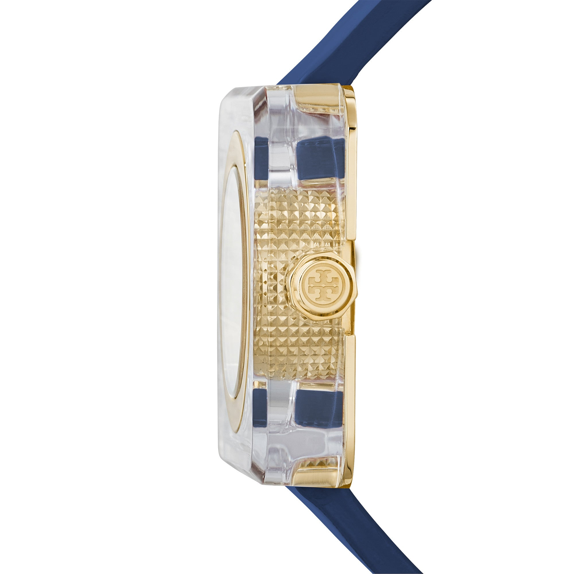 IZZIE WATCH, NAVY PATENT/GOLD, 36 X 36 MM