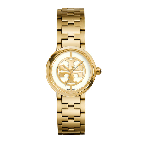 REVA WATCH, GOLD-TONE/IVORY, 28 MM