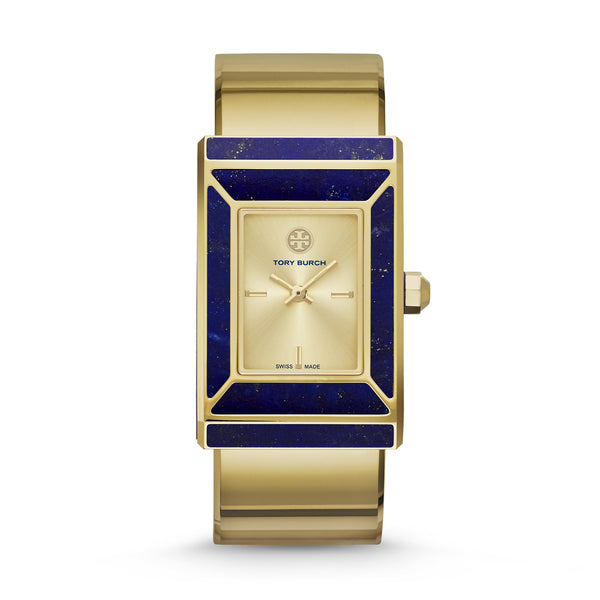 ROBINSON WATCH, LIMITED EDITION, GOLD-TONE/LAPIS, 38 X 25 MM