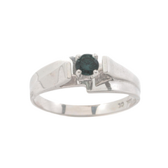 10KT WHITE GOLD FANCY COLOR DIAMOND SOLITAIRE RING