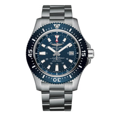 Breitling Superocean Special Collection  silver and navy blue watch