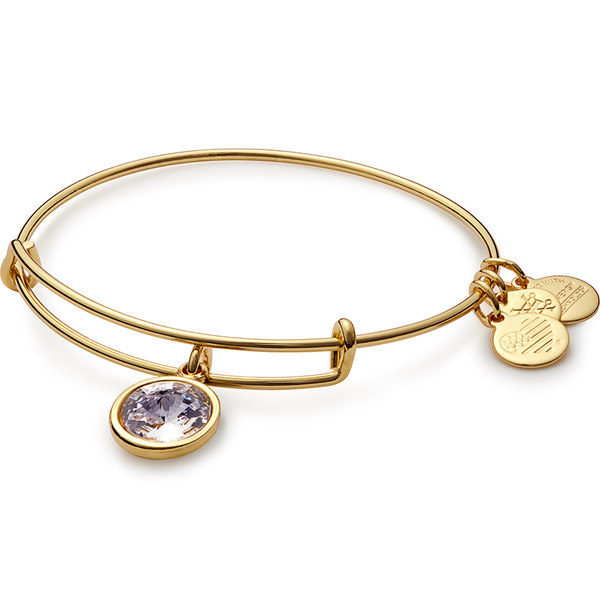 April Birth Month Charm Bangle