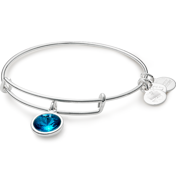 December Birth Month Charm Bangle
