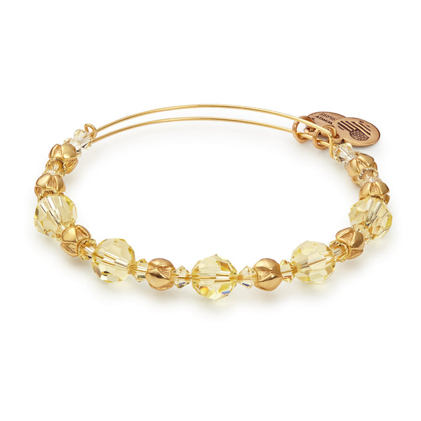 Sunglow Beaded Bangle With Swarovski® Crystals