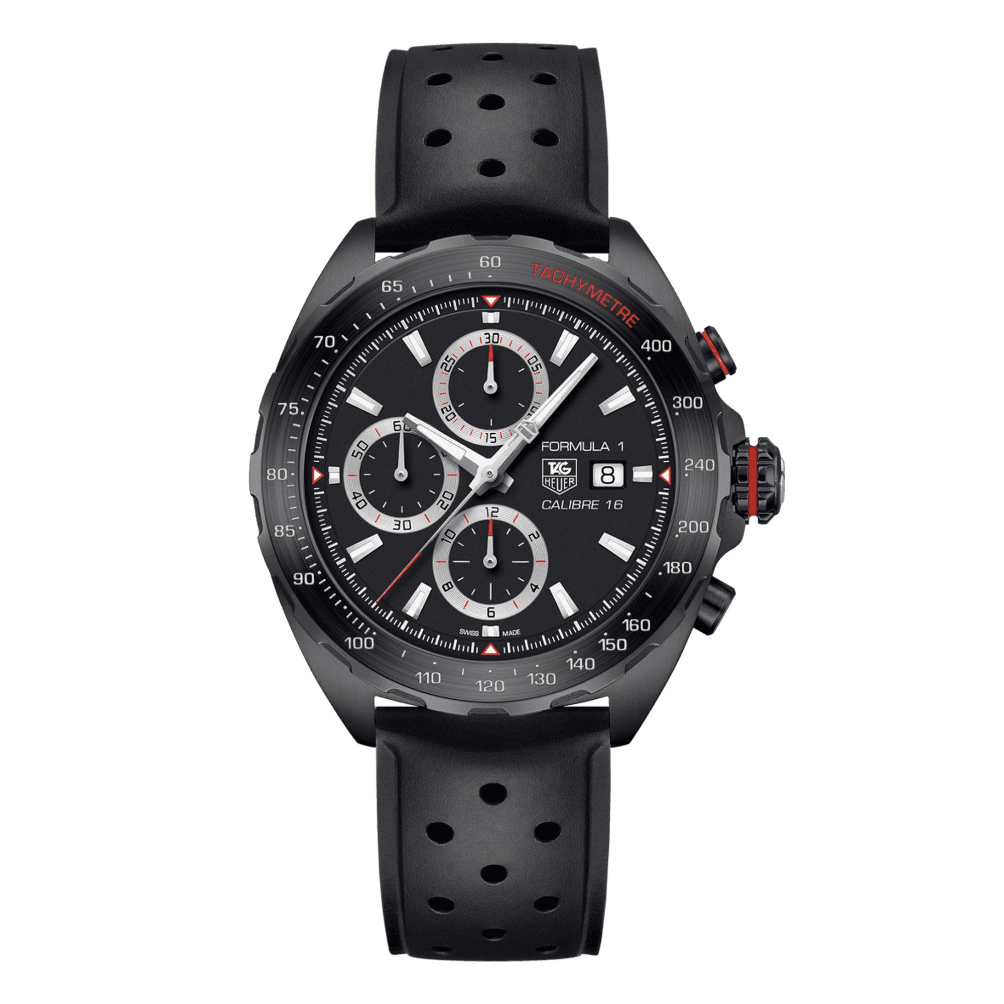 TAG Heuer Formula 1 Calibre 16 Automatic Mens Black Rubber Chronograph