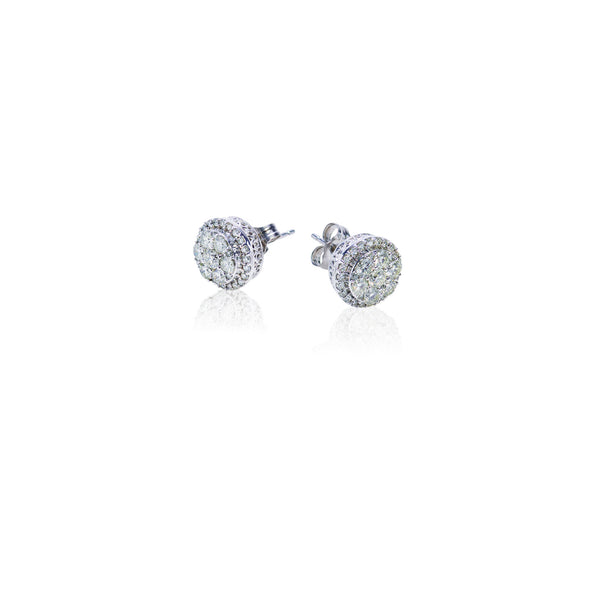 1.00 CTW Fancy Diamond Circle Stud Earrings