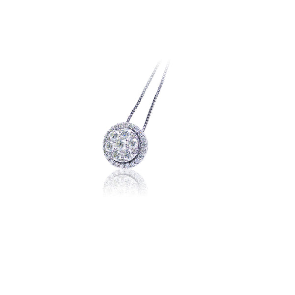 1.00 CTW Fancy Diamond Circle Pendant