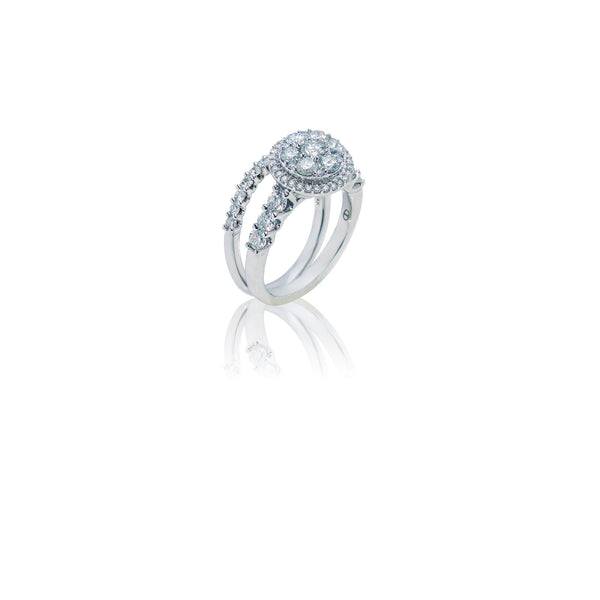 1.75 CTW Fancy Diamond Circle Ring and Band