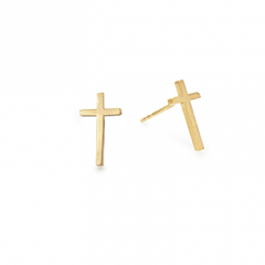 Cross Post Earrings
