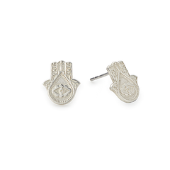 Hand of Fatima Post Earrings