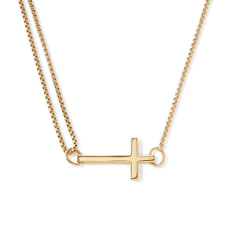 Cross Pull Chain Necklace