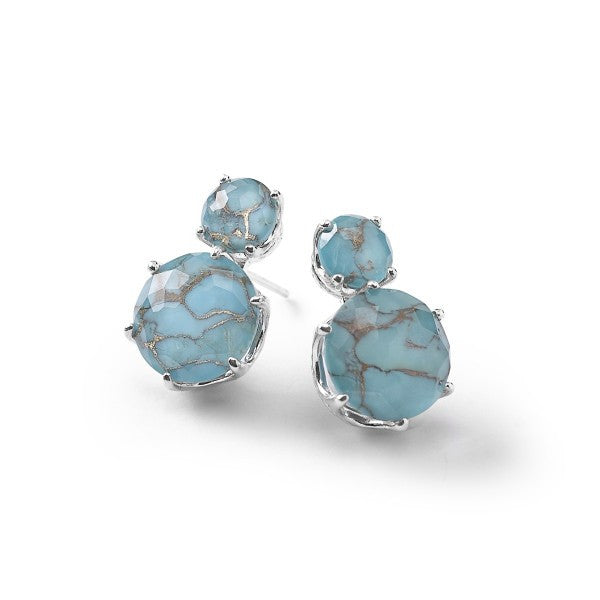 ROCK CANDY STERLING SILVER 2-STONE POST EARRINGS