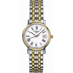 Tissot T-Classic Desire Silver Dial Two Tone Ladies Watch
