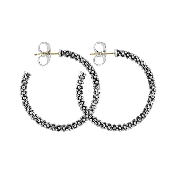 Signature Caviar Hoop Earrings