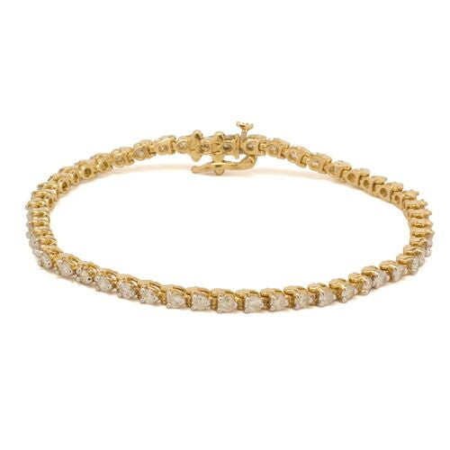 14KT Round Diamond Tennis Bracelet
