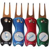 Fairway4 Premium Golf Divot Tool - 4 Tool Variety Set -Black, Blue, Red & Green