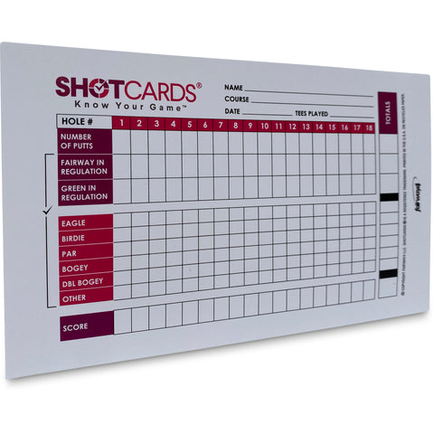 SHOTCARDS® Standard Edition (Pink/Purple) - Golf Shot and Stat Tracking Scorecards