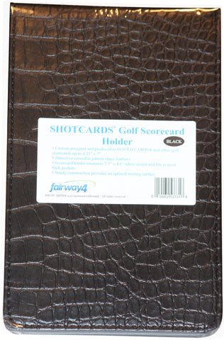 Reseller Case of 24 - SHOTCARDS Golf Scorecard Holder - Black and Pink Available