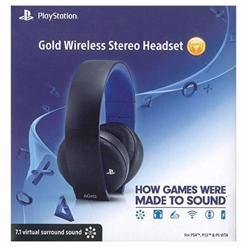 Gold Wireless headset - PS4