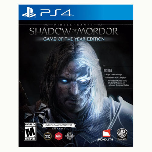Middle Earth Shadow of Mordor - GOTY Edition - Playstation 4