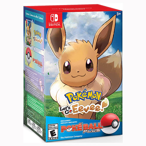 Pokémon: Let's Go, Eevee! + Poké Ball Plus Pack - Switch - Nuevo Y Sellado