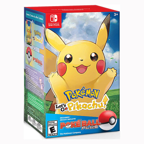 Pokémon: Let's Go, Pikachu! + Poké Ball Plus Pack- Switch - Nuevo Y Sellado