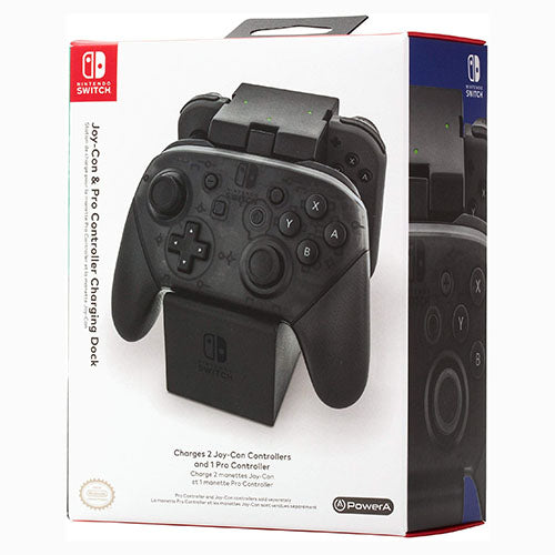PowerA Joy-Con & Pro Controller Charging Dock - Switch - Nuevo Y Sellado