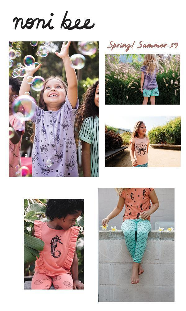 Noni Bee Spring Summer 19 | Organic Dresses, Tee Shirts, Leggings, Skirts, Shorts