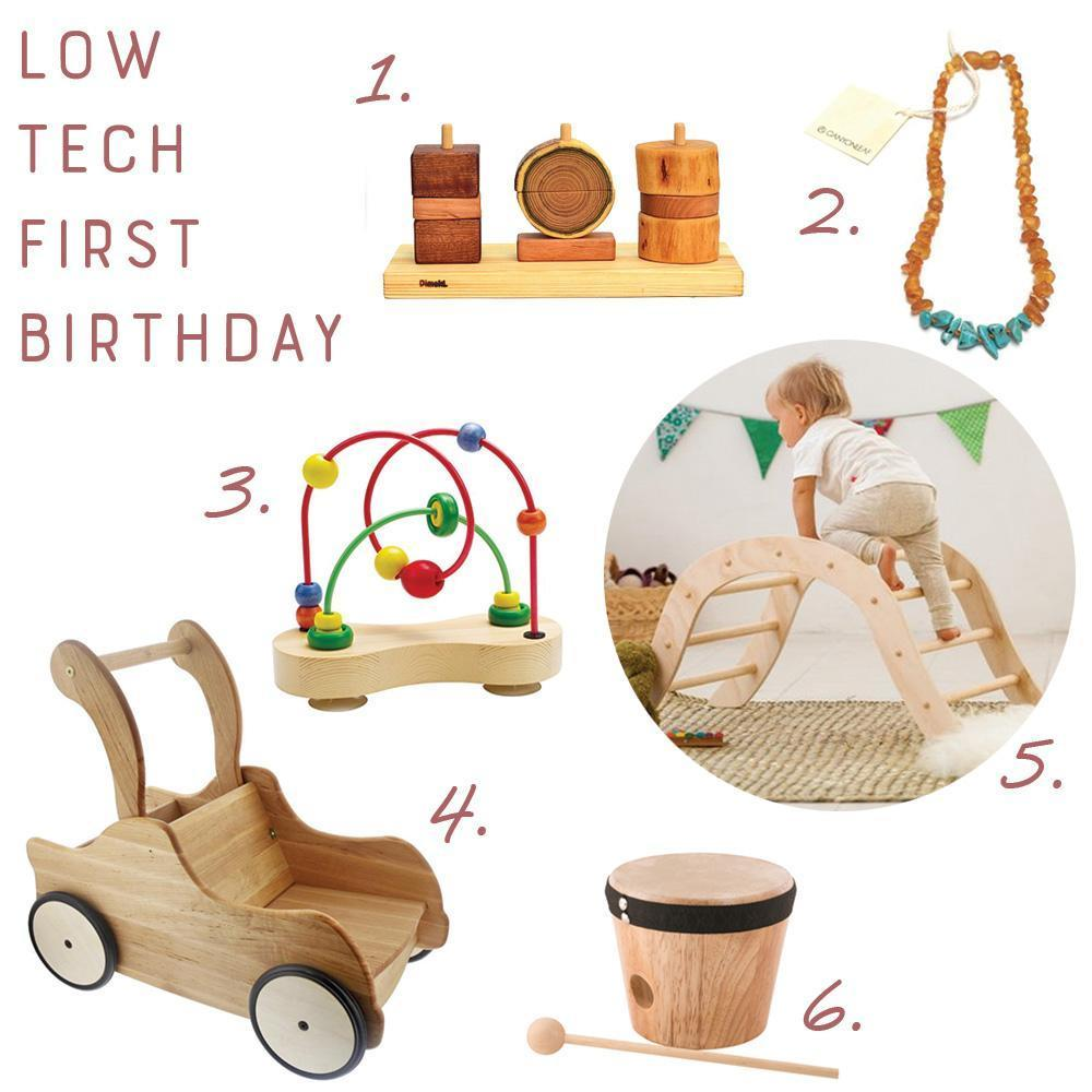Low Tech First Birthday Presents