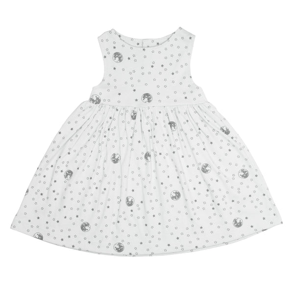 Noni Bee Organic Dress Grey Moon Star