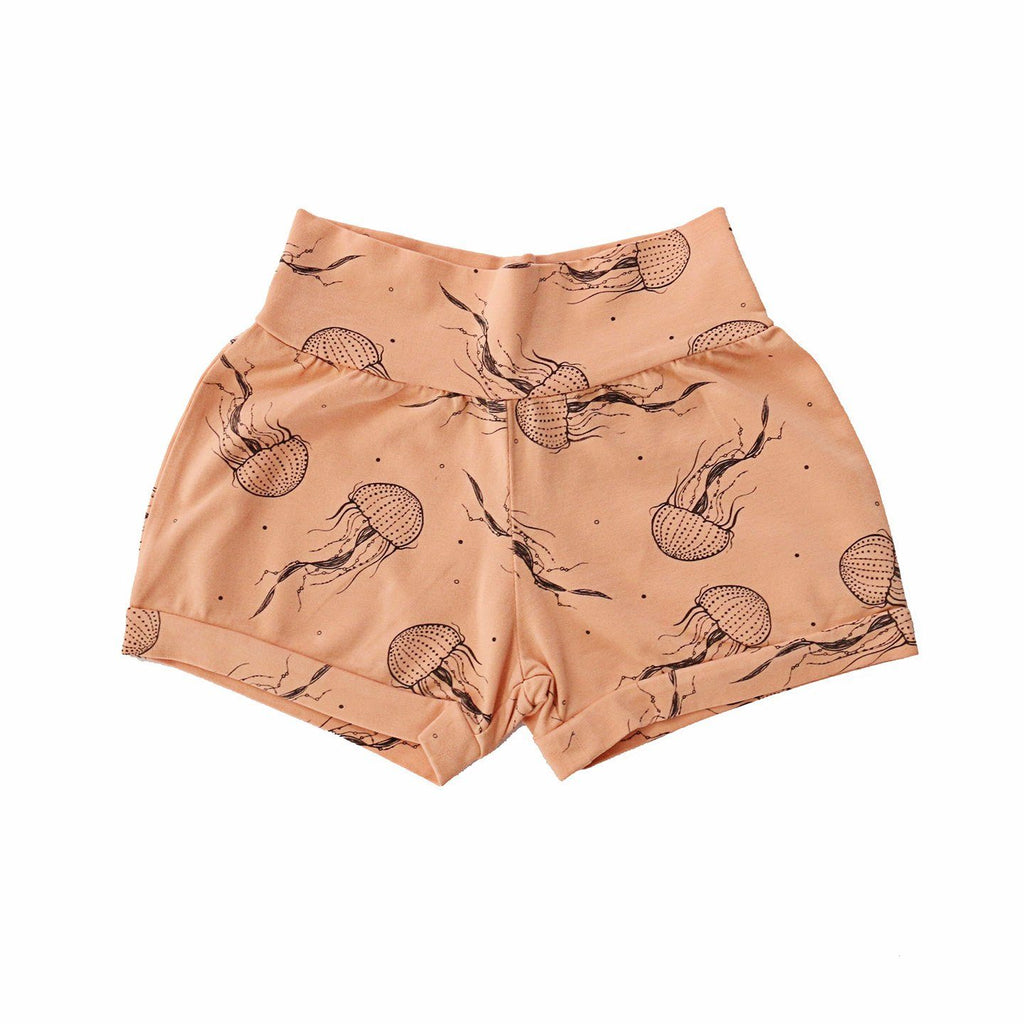 noni bee organic shorts jellyfish pink