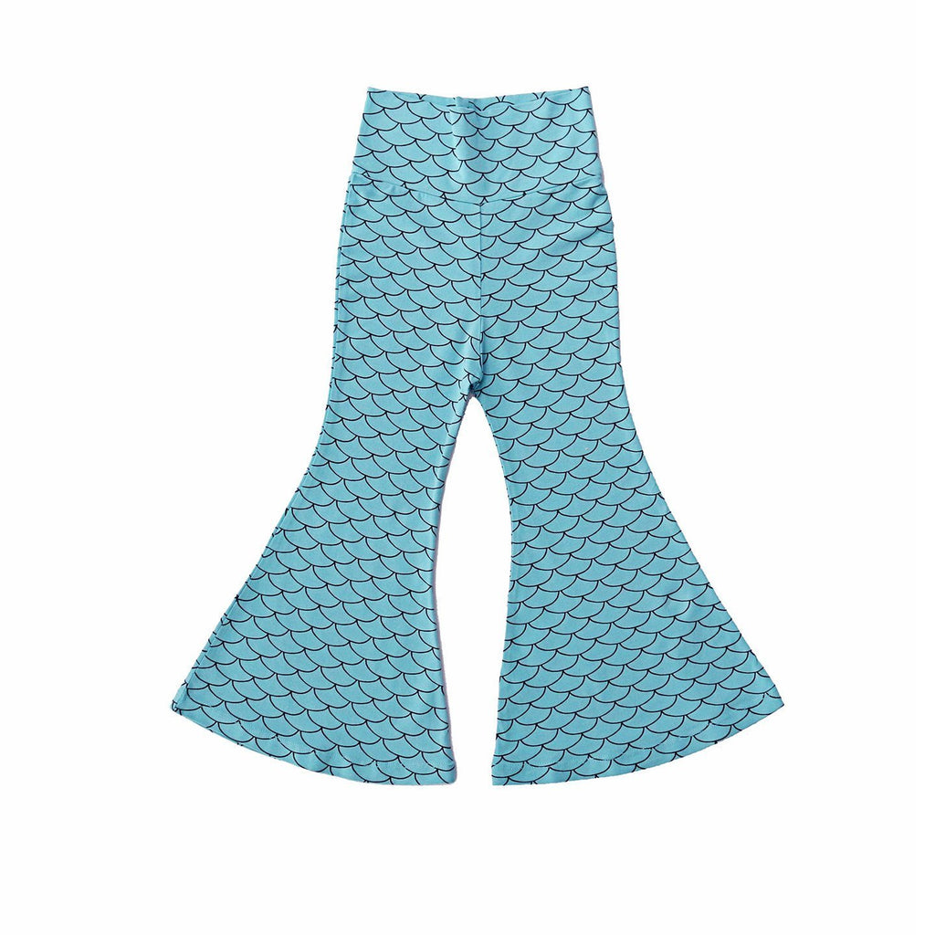 noni bee organic bell bottom pant mermaid aqua blue