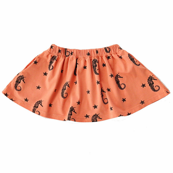 noni bee organic skirt orange sea horse unicorn
