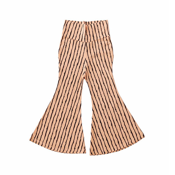 noni bee organic bell bottom pant striped pink