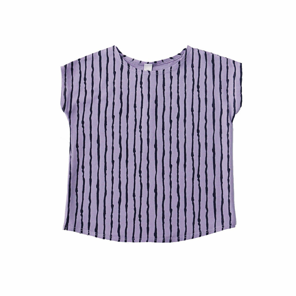 noni bee striped purple tee