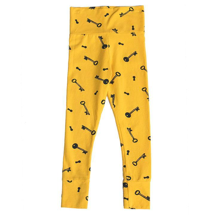 noni bee organic mustard yellow key legging