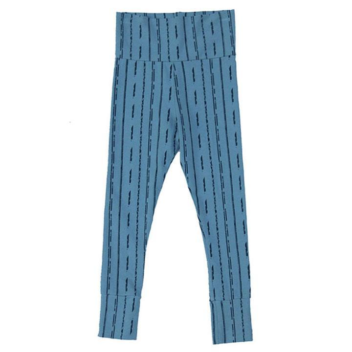 noni bee organic striped blue leggings girls