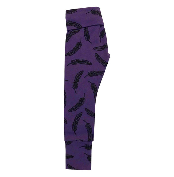 Noni Bee Organic High Waisted Legging Purple Feather