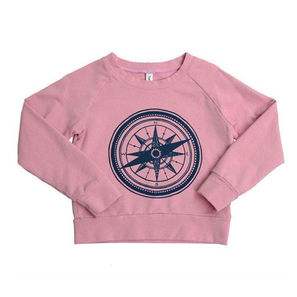 Sweatshirt in Berry-Compass