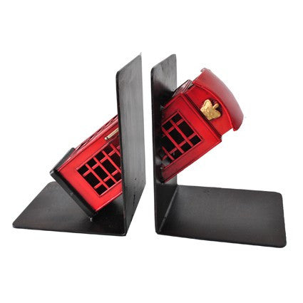 Telephone Booth Bookends