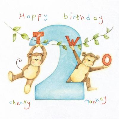 Happy Birthday Cheeky Monkey Card