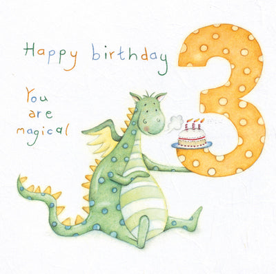 Happy Birthday 3 You Are Magical Card