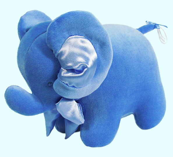 Blue Velvet Elephant Rattle