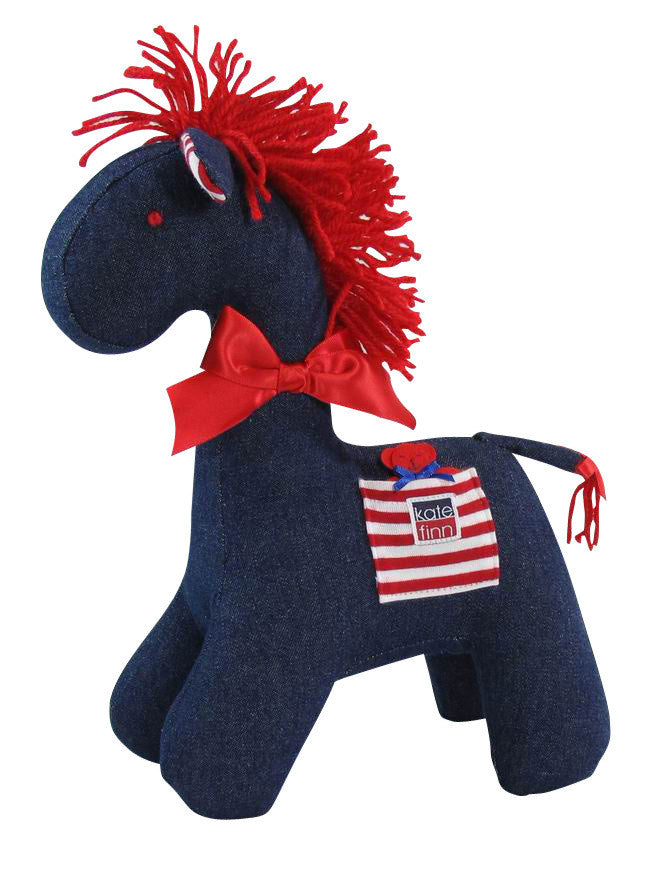 Mini Denim Horse Rattle