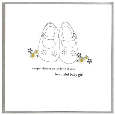 Congratulations On The Birth Of Your Beautiful Baby Girl Card The