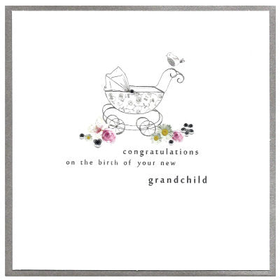 Congratulations of the birth of your new grandchild Card
