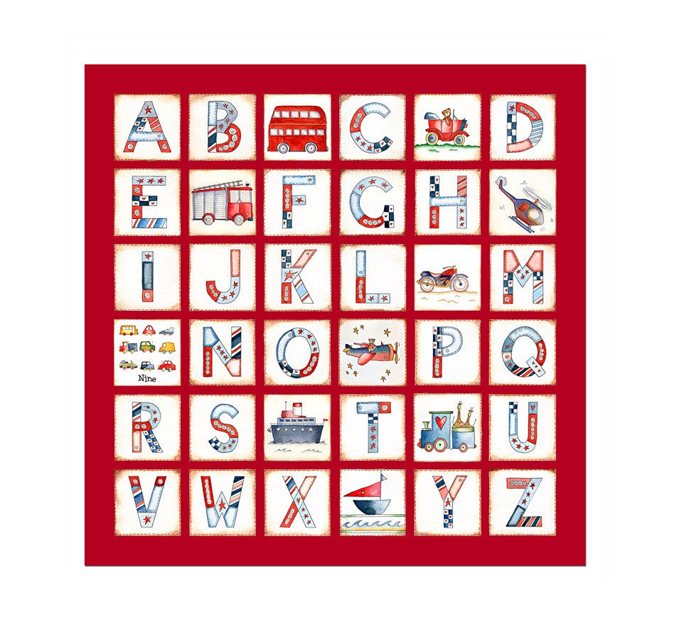 Alphabet Transport Canvas